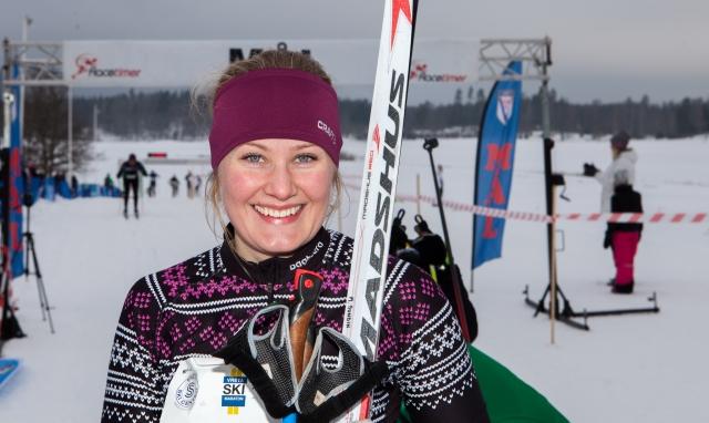 Marika Sundin Vreta Ski Maraton 2018. Foto: Mikael Johansson.