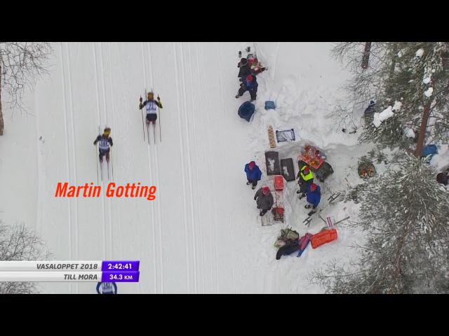 Här släppte jag och Gotting, med ca 35 km kvar. Strax efter Vasslan, då Anders Aukland och Oscar Persson tryckte till.