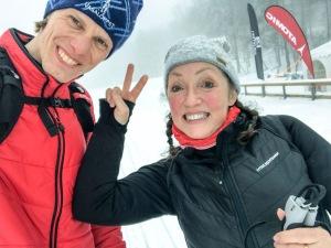 Katrice Horsley är från England och har bott i Sverige i ett år. När vi körde en lektion i måndags var det tredje gången hon stod på ett par skidor. Det händer mycket i början vilket är roligt att se!