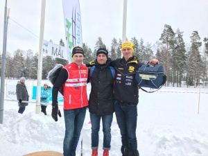 Markus Jönsson 2:a, Marcus Johansson 1:a och jag 3:a i Rallarloppet 2018