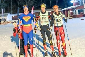 Boråstrion Simon Grenlöv (snyggaste tävlingsdräkten), jag och Rickard Bergengren