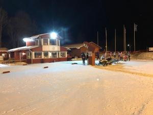 Borås skidstadion igår då Borås SK ordnade KM. Jag är medlem i Ulricehamns IF, Borås SK och Hestra IF, men tävlar för UIF.