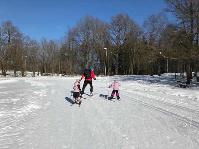 Skejtskidåkning vid Borås skidstadion