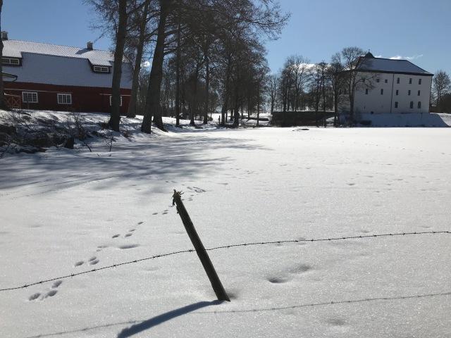 Torpa stenhus på vintern