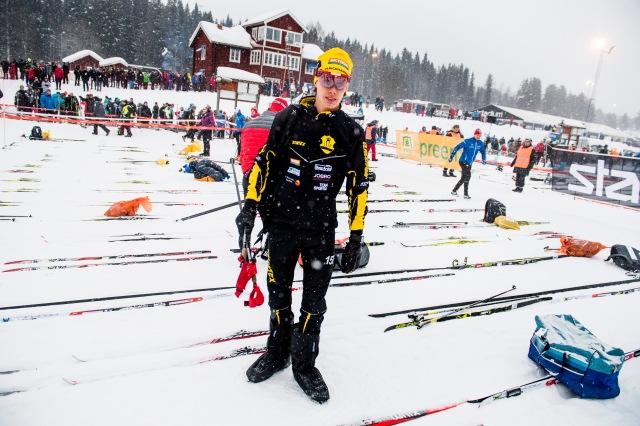 Elitledet i Vasaloppet 2018. Foto: Johan Valkonen.