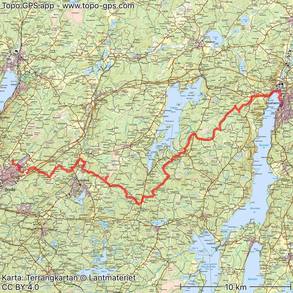 ulricehamn karta Sjuhäradsleden karta Ulricehamn Borås gröna kartan genom appen  ulricehamn karta