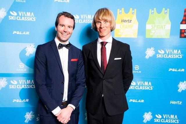 Carl-Gustav Hane och jag på Visma Ski Classics bankett efter Ylläs-Levi