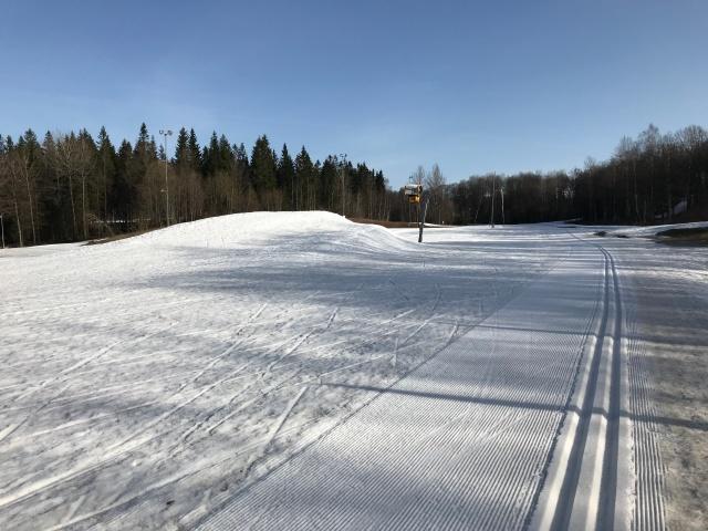 Borås skidstadion idag 11 april 2018