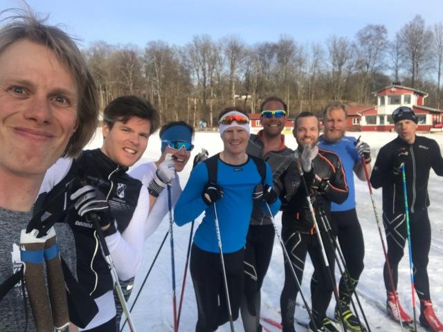 Gott gäng som skejtade igår: Simon Grenlöv, Rickard Bergengren, Martin Damm, Magnus Sjöbjär, Anders Olsson (som är med i Wickström Coaching), Alexander Westberg och Mattias Carlzon