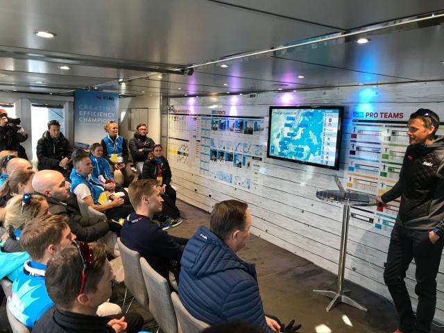 Jørgen Aukland berättade om sin kommande skidtur med sin bror Anders och två andra när han besökte Visma Ski Classics-trailern. De ska slå rekord i att skida över Grönland, målet är 6 dagar med start 15 maj.