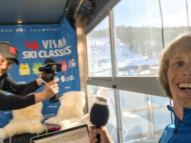 Magnus Östh filmade och jag ställde frågorna på presskonferensen dagen innan loppet.