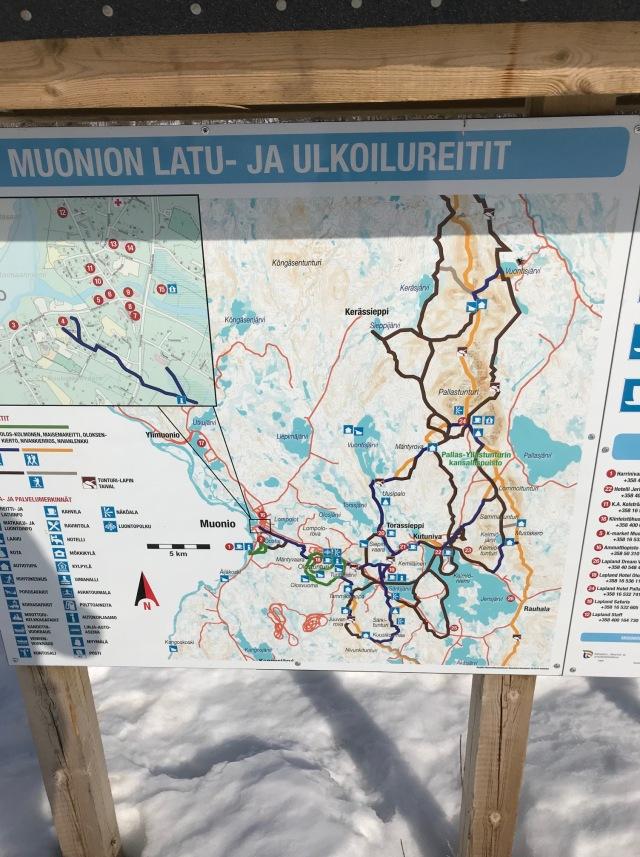 Spårkarta Muonio