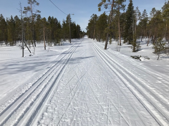 Skidspåren i Muonio 15 april 2018