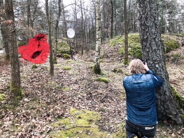 Tomas Eriksson från Studio Bildbolaget fotar för Vasalöparen på Skatås