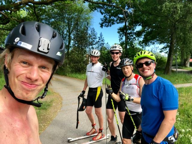 Rullskidtur idag med Johan Söderberg, Daniel Åkerberg, Henrik Litzell och Erik Thiberg