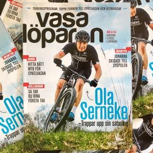 Ola Serneke på omslaget av Vasalöparen 2-2018, alltså majnumret. Omslagsfoto: Tomas Eriksson, Studio Bildbolaget
