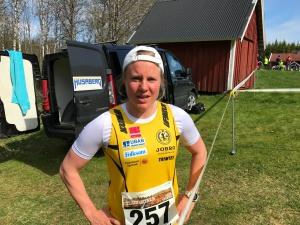 Hanna Falk värmde upp rejält inför Västgötaloppet Trail