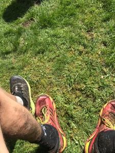 Jag sprang Västgötalopet Trail i dessa röda skor, Hoka One One Mafate
