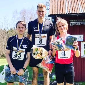 3:a i Västgötaloppet Trail 2018 på långa banan (25,7 km på min klocka) efter otroligt starka Linus Wirén och Marcus Johansson