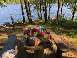 Middag vid Björviks udde igår