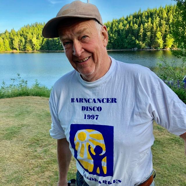 Svärfar Inge Petterssons t-shirt är inte att leka med.