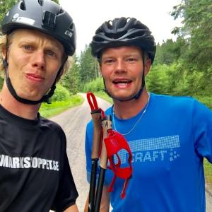 Karl-Johan Westberg och jag efter avslutat pass