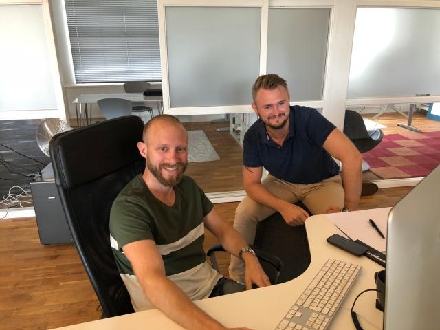 Magnus Wallmark och Richard Almqvist som jag satt jämte under ett par år