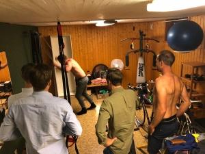 100 m SkiErg-tävling i atletklubben i vår källare