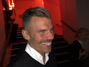 Ove Nilsson anslöt till Grand kring midnatt. Han hade kört Vätternrundan samma dag på 6 h 48 min med Team Mustasch.