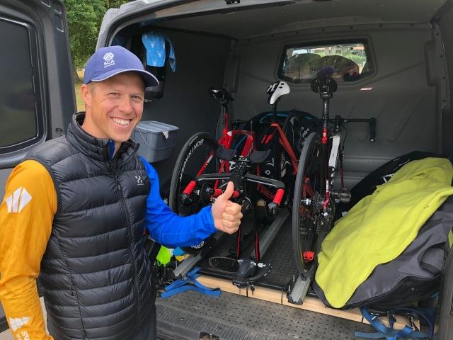 Min skidgymnasiekompis Joakim Gustafsson, aka Jochen, bodde hos oss i tre nätter i Vejbystrand i samband med att han körde veteran-SM i cykel i Båstad. Det blev ingen medalj denna gång, men nästa år så! Väldigt trevligt besök!