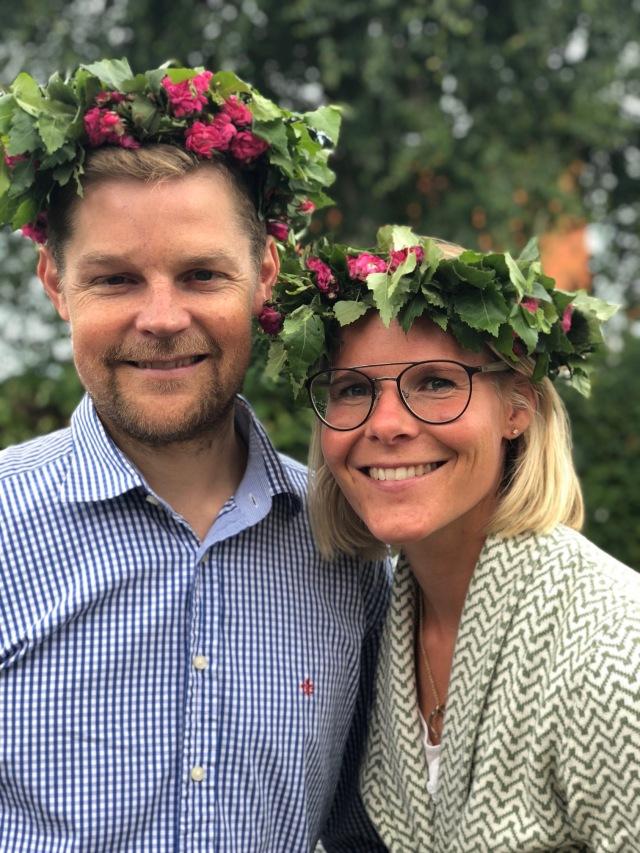 Jens och Karoline Björk, som bor i Varberg