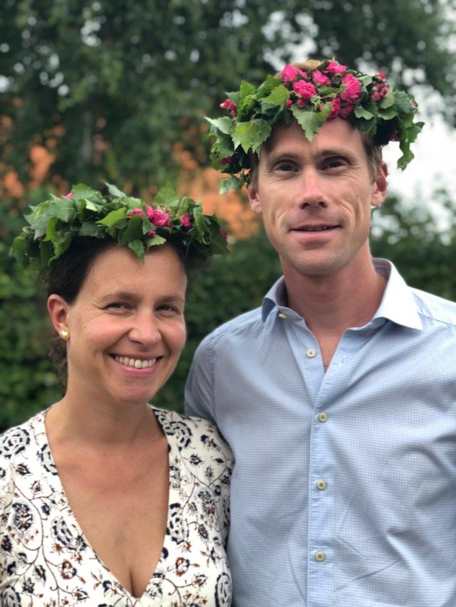 Erika (Idas syster) och Niklas Lundgren, som bor i Höganäs