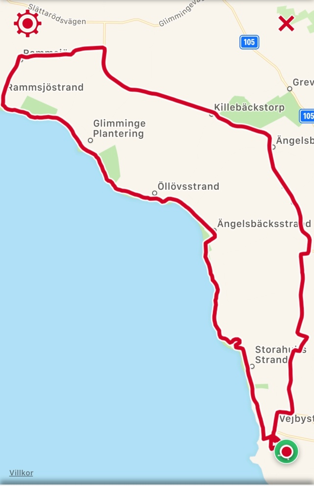 32 km på Bjärehalvön
