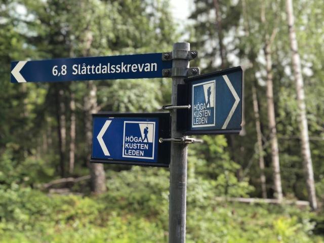 Trevlig löpning på Höga Kusten-leden mellan Skuleberget och Slottdalsskrevan. Mestadels jättefin stiglöpning med inslag av grusväg...