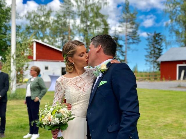 Sandra Åhs Sivertsen och David Nilsson gifte sig 30 juni 2018