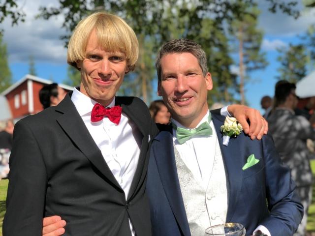 David Nilsson och jag på Aftonmora Ranch