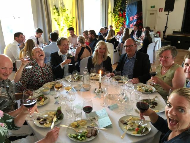 Vårt bord vid bröllopsmiddagen