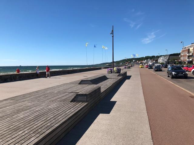 Vid havet i Helsingborg på banan för SM 100 km under SM-veckan.