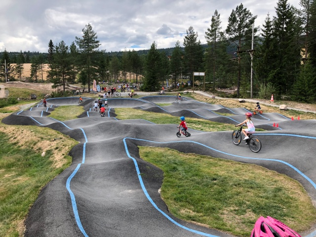 Pump track i Trysils bike park