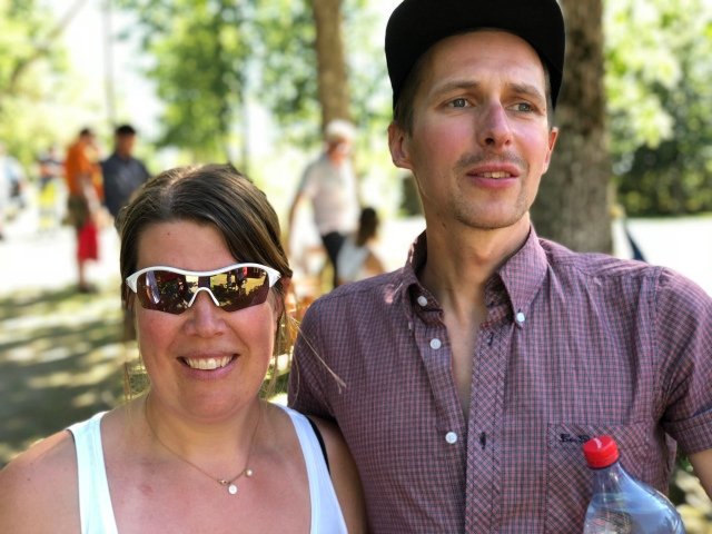 Sara Mangsbo och David Höglund som vi lärde känna i Uppsala