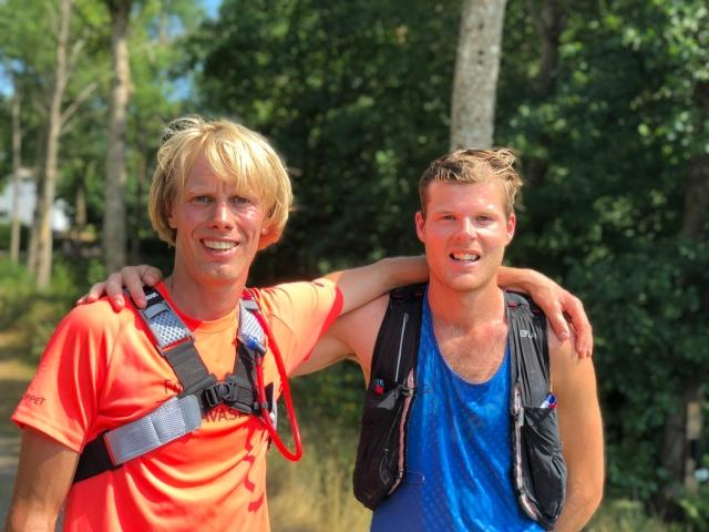 Erik Wickström och Simon Grenlöv på Hyssnaleden