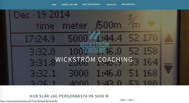 Personbästa 5000 m stakmaskin artikel Wickström Coachings hemsida
