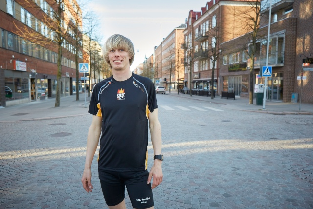Erik Wickström Allégatan Borås. Tröja Kretsloppet. Foto: Tomas Eriksson, Studio Bildbolaget.