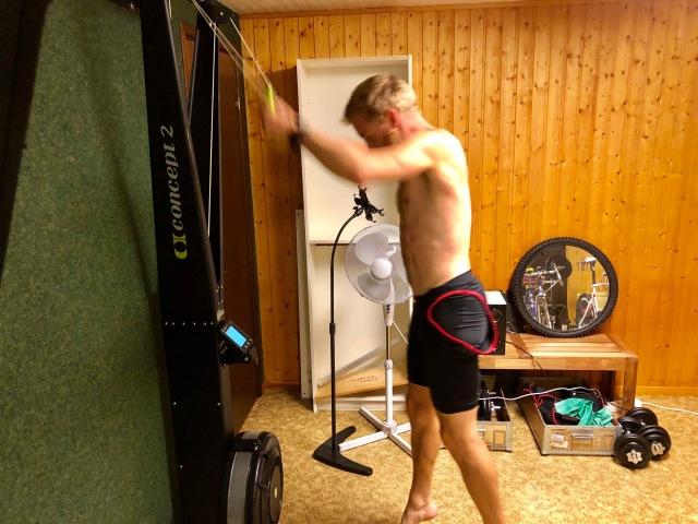 Gustav Törnqvist tillhör den gamla skolan, men han vågade ändå testa SkiErg för första gången