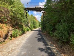 Typ högsta punkten på cykelvägen mellan Grevie och Lyavägen utanför Båstad