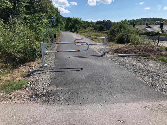 Vändningen på cykelbanan på Hallandsåsen vid Lyavägen