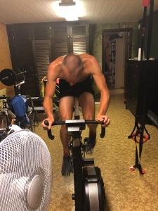 Martin Josefsson på BikeErgen i vår källare