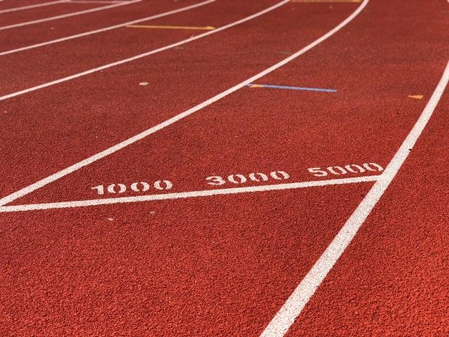 Ryavallens löparbana. Jag är sugen på att springa 3000 m igen snart.