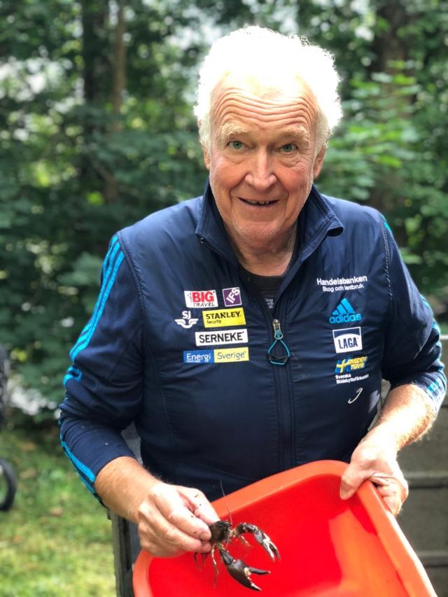 Inge Pettersson. Tack svärfar för att du såg till att få tillgång till kräftvatten i Ätran för 52 år sedan. Obruten svit förutom några år i samband med kräftpesten.