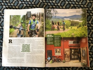MTB i Mora i tidningen Turist augusti 2018